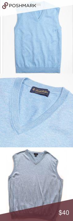 "Brooks Brothers Sweater Vest • Brooks Brothers ""346"" • 100% Supima Cotton • Size XXL  Measurements: • Bust - 47"" • Shoulders - 21"" • Sleeves - 7.5"" • Hips - 48"" • Length - 29"" Brooks Brothers Sweaters V-Neck"