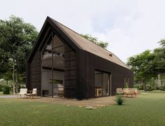 Moderne schuurwoning Veenendaal | The Citadel Company Build Your Own House, My Dream Home, Habitats, Tiny House, Home Goods, Shed, New Homes, Farmhouse, Cottage