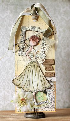 Gorgeous creation by Jo for the Simon Says Stamp Wednesday Challenge (Wedding or Anniversary) February 2014 Prima Paper Dolls, Prima Doll Stamps, Card Tags, Gift Tags, Cards, Tag Craft, Wedding Tags, Wedding Gifts, Decoration Originale