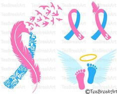 Pregnancy loss Ribbon Awareness zentangle feather bird flying Cutting Files SVG PNG EPS dxf ClipArt iron on heat transfer shirt decal Miscarriage Tattoo, Miscarriage Remembrance, Miscarriage Awareness, Remembrance Tattoos, Baby Memorial Tattoos, Tattoos Skull, Baby Tattoos, Baby Loss Tattoo, Tatoos