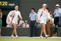Ekaterina Makarova and Lucie Safarova before the start of their match - Tom Lovelock/AELTC