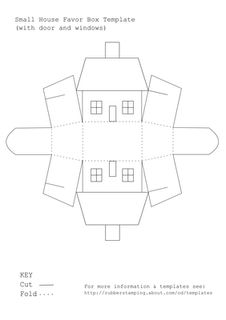 100+ free House shaped box printable templates - print, fold & embellish to make ornaments.