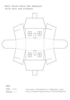100+ free House shaped box printable templates - print, fold & embellish to make ornaments.