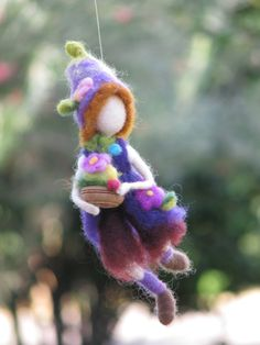 Needle felted Waldorf Inspired Art doll Soft por Made4uByMagic
