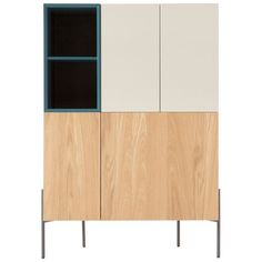 Coby Highboard, Multi Colour and Oak from Made.com. Light Wood/Multi-Coloured. NEW Express delivery. Looking for something sleek and functional when..