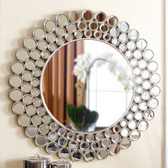 Simple and Stylish Ideas: Wall Mirror Diy Ideas round wall mirror wood.Decorative Wall Mirror Rustic wall mirror with lights floors. Classic Wall Mirrors, Big Wall Mirrors, Lighted Wall Mirror, Silver Wall Mirror, Rustic Wall Mirrors, Contemporary Wall Mirrors, Round Wall Mirror, Modern Wall, Starburst Mirror