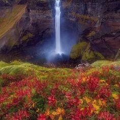 Kövesse @ nat.geography több csodálatos természet / fotók Őszi Háifoss, Izland 🇮🇸 |  Fényképezte @edwinmartinez #wowplanet