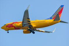 """New Mexico One"" on final approach to SAN on September All Airlines, Boeing Aircraft, Southwest Airlines, Paint Schemes, New Mexico, Aviation, Allegiant, Helicopters, Planes"