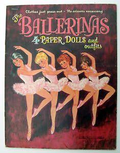 Vintage Whitman BALLERINAS paper dolls 1967