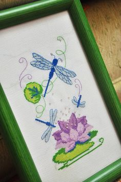 crossstitch dragonfly