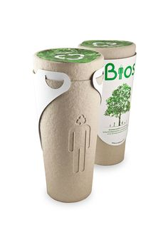 Bios Urn is a biodegradable urn designed to convert you into a tree after you die. The urn is made using 100% biodegradable materials, coconut shell, compacted peat, and cellulose. It has two parts – a top capsule with the proper medium to allow a perfect germination of the seed, and a bottom cone where you can place the ashes. Bios, To Go Becher, Funeral Planning, Funeral Ideas, Bokashi, No Waste, Reduce Waste, After Life, Sustainable Living