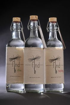 Organic Find Vodka ~ Designed by Kayla Langhans, a student attending The University of Wisconsin - Stout