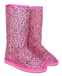 New Ladies Womens Faux Suede Fur Lined Leopard Animal Print Boots Sizes 3-8 | eBay