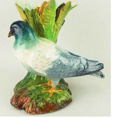 Massier Majolica Pigeon Vase
