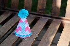First Birthday Hat Pink Chevron Aqua Turquoise Polka Dots 1st Birthday Outfit Toddler Baby Girl by LittleStitchinLu on Etsy https://www.etsy.com/listing/152300402/first-birthday-hat-pink-chevron-aqua