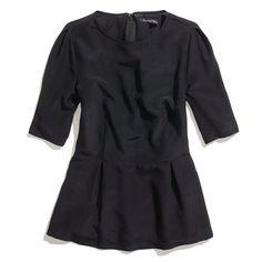 Silk Peplum Top #madewell - basic and classy