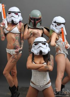 The SuicideGirls Embrace the Sexy Side of the Force | Inked Magazine I love the one on the lefts side tatt. I want to do a piece dedicates to things I grew up with!