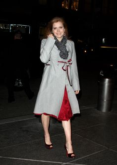 Amy Adams, Coat. Love it.