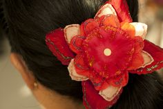 wikiHow to Make Layered Flower Hair Clips -- via wikiHow.com