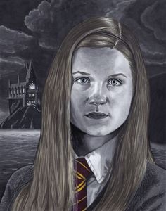 Bonnie Wright as Ginny Weasley in Copic markers and white Gelly Roll pen. #harrypotter #gryffindor #ginnyweasley