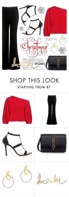 """""""Christmas!"""" by ifchic ❤ liked on Polyvore featuring TIBI, Dee Keller, Karen Walker, Maria Black and Heidi Swapp"""