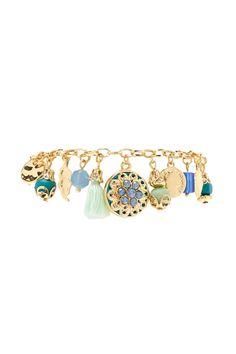PEDIDOS SOLO POR #ENCARGO Código: F-60 Rhinestone Charm Bracelet Color: Blue/gold Precio:₡8.500 ($15,68)  Whatsapp ☎8963-3317, escribir al inbox o maya.boutique@hotmail.com  Envíos a todo el país. #MayaBoutiqueCR ❤