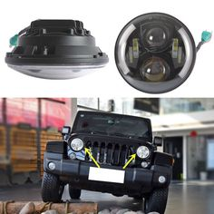 102.00$  Watch now - 2X 7inch Round Shape CRE-E LED Headlights For Wrangler JK TJ LJ CJ 97-2016  #aliexpresschina