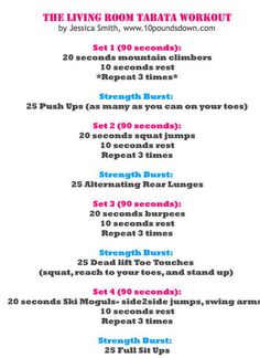 At-Home Tabata Workout - Good, quick cardio