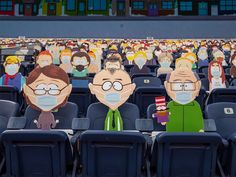 1,800 South Park Cut-Outs Spread Across Five Sections at Broncos Game During the COVID-19 Pandemic Denver Broncos Game, Go Broncos, Eric Cartman, South Park Characters, Fictional Characters, Nfl, Tampa Bay Buccaneers, Comedy Central, Charity