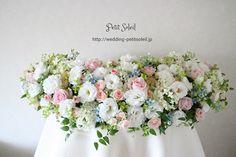 メインテーブル装花 ピンク ホワイト