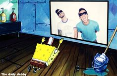 spongebob bowing to 21 pilots - Google Search