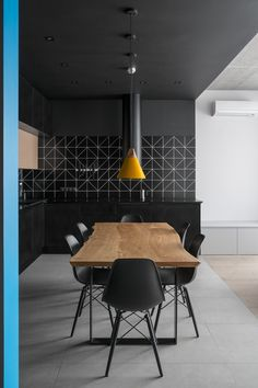 flat in Moscow _ Le Atelier Amazing Architecture, Contemporary Architecture, Interior Architecture, Interior Design Photography, Dining Room Lighting, Kitchen Lighting, Design Blog, Scandinavian Interior, Colorful Interiors