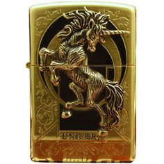 Zippo Lighter Genuine Design Unicorn Gold Emblem * Want to know more, click on the image.