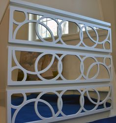 A Mirrored IKEA Malm Dresser How To (uses overlays) - tutorial & links to purchase overlays)