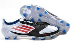 Adidas F50 Adizero miCoach Leather TRX FG Soccer Shoes White Core Energy Black
