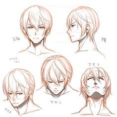 男性キャラクターの顔イラレポ|Palmie(パルミー)
