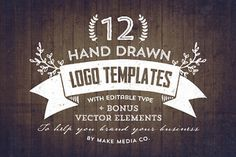 Hand drawn templates on Creative Market. So easy and super creative!