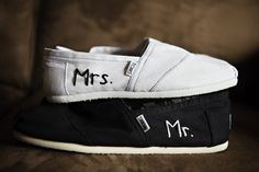 Toms Wedding Shoes... wish he'd get toms!
