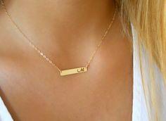 Weiteres - Gold Buchstaben bar Halskette - ein Designerstück von Dana-Gal-kohen bei DaWanda
