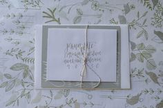 modern calligraphy invitation suite