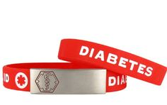 #Diabetes Awareness Medical ID Bracelet - Fully personalized with your emergency information for $29.95