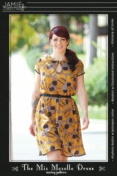 Miz Mozelle Dress sewing pattern   would be great as both a dress or as a top. This would pair perfectly with the silk georgette yardage I picked up a while ago.