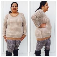 """High low style sweater Very stylish and cozy sweater in high low style . I m size 16-18 and 5""""2 in height of that helps . Tags says 3x but would best fit size 1x Sweaters"""