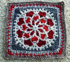 FREE PATTERN  ~ fibrearts:    Velvet and Lace; free pattern on Ravelry   http://priscillascrochet.net/free%20patterns/Afghan%20Squares/Velvet%20and%20Lace%20Square.pdf