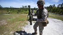 A Marine with 1st Battalion, 8th Marine Regiment prepares to load an Mk-153 shoulder-launched multipurpose assault weapon during a live-fire rocket range aboard Marine Corps Base Camp Lejeune, North Carolina, May 5, 2015. #USMC #USMarines