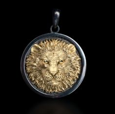 "Galatea: Men's ""Lion"" Pendant from the Capitan Collection at http://www.pearls.com"