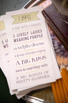 idea for something to go on the table instead of mr game - wedding 'iSpy' - ask guests to photograph the things on the i spy list and send them to you after the wedding - will add some fun photos to your wedding album and you can offer a prize for the best...