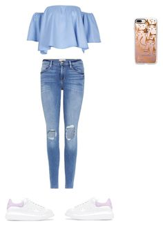 """""""Untitled #567"""" by aayushi3912 ❤ liked on Polyvore featuring Casetify, Frame and Alexander McQueen"""