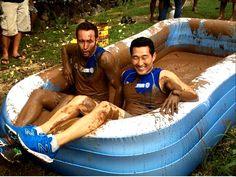 Having fun in the mud!