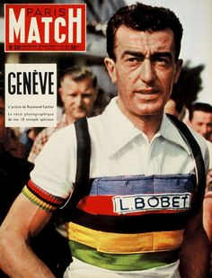 Louison Bobet - When cycling jerseys used to be amazing. Cycling News, Cycling Art, Cycling Jerseys, Cycling Bikes, Velo Retro, Velo Vintage, Vintage Cycles, Paris Match, Bobe